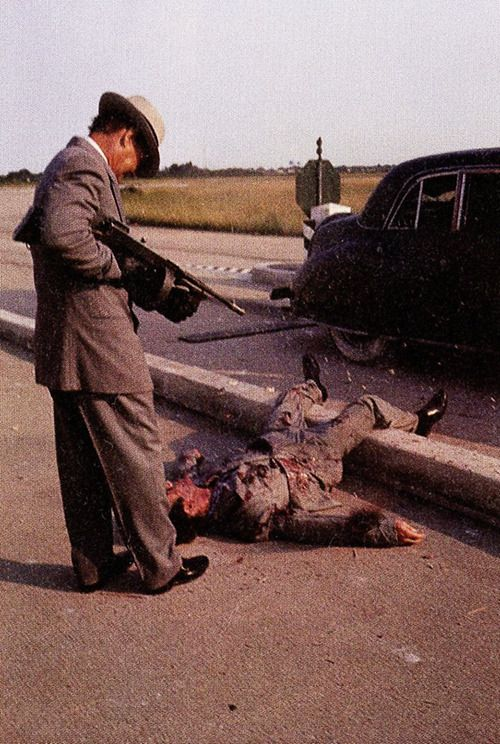 The Godfather - Sonny Corleone on the Causeway #GangsterMovie #GangsterFlick