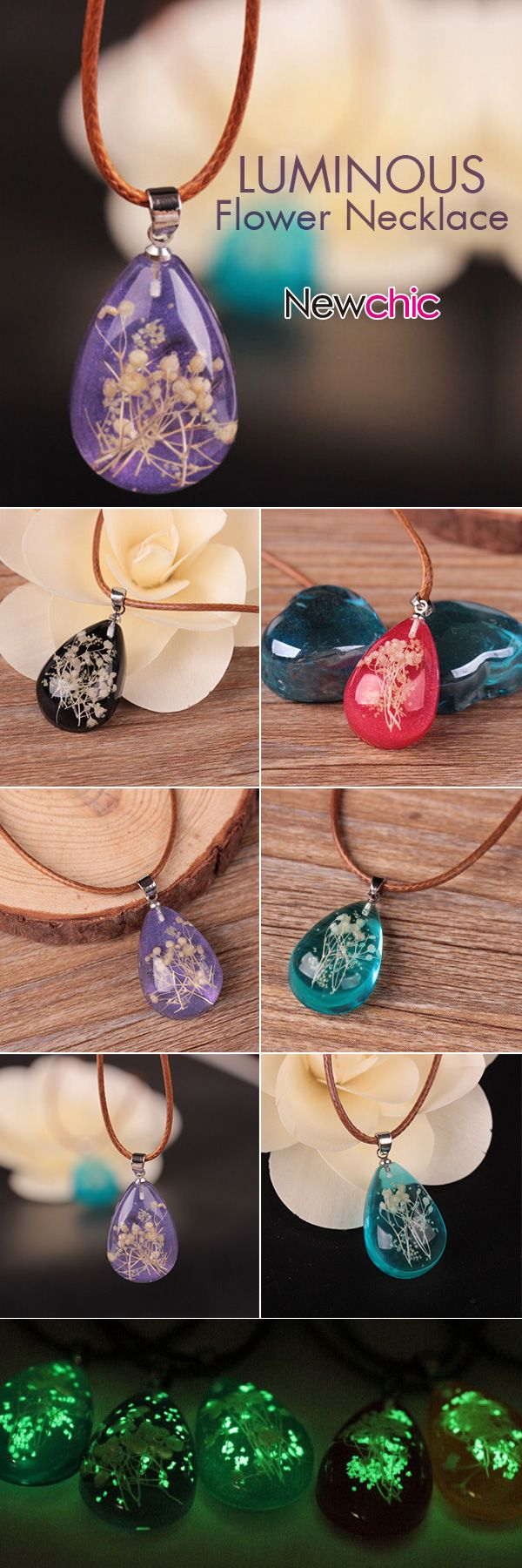 [Newchic Online Shopping] 53% OFF Luminous Flower Necklace