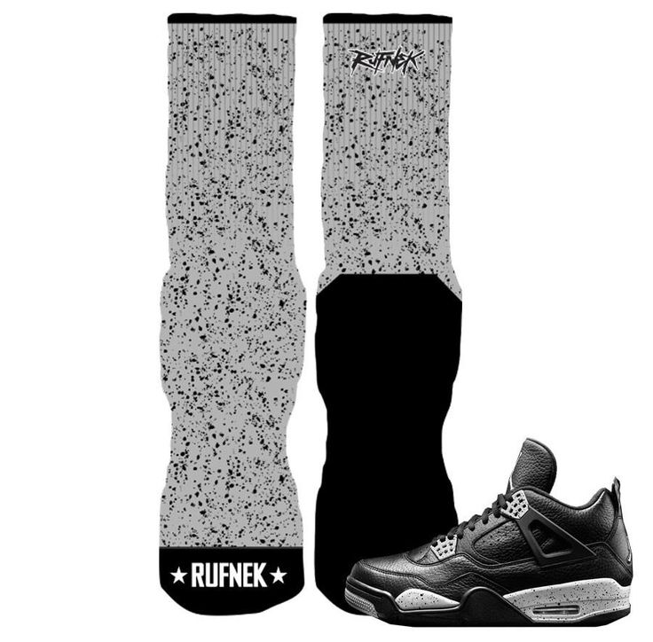 Jordan 4 Oreo Elite Socks - Splatter Socks