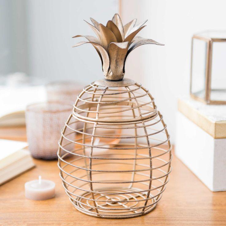 Boîte à bijoux ananas en métal | Maisons du Monde