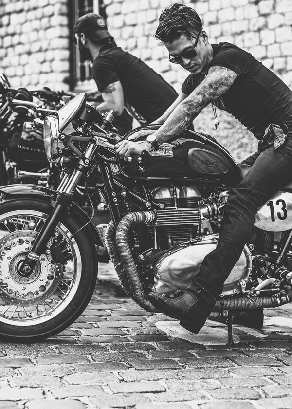 When I was fifteen an adult friend took me for a ride on his Bonneville, I was hooked.