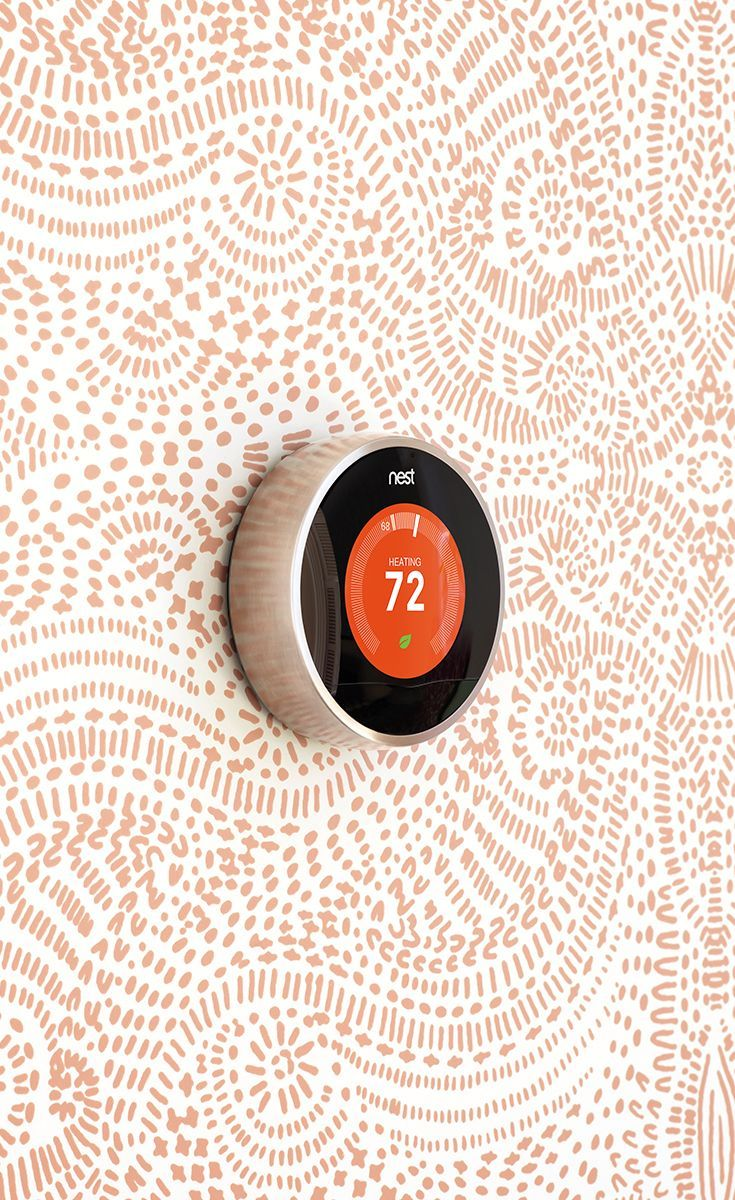 a thermostat that looks as good as your wallpaper