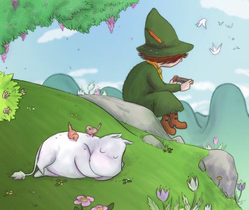 Moomin daydreaming