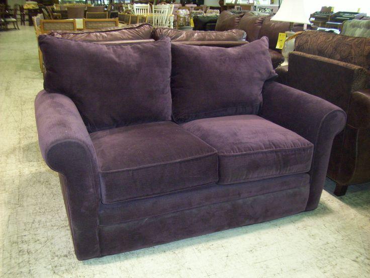 Purple Leather Sofa And Loveseat