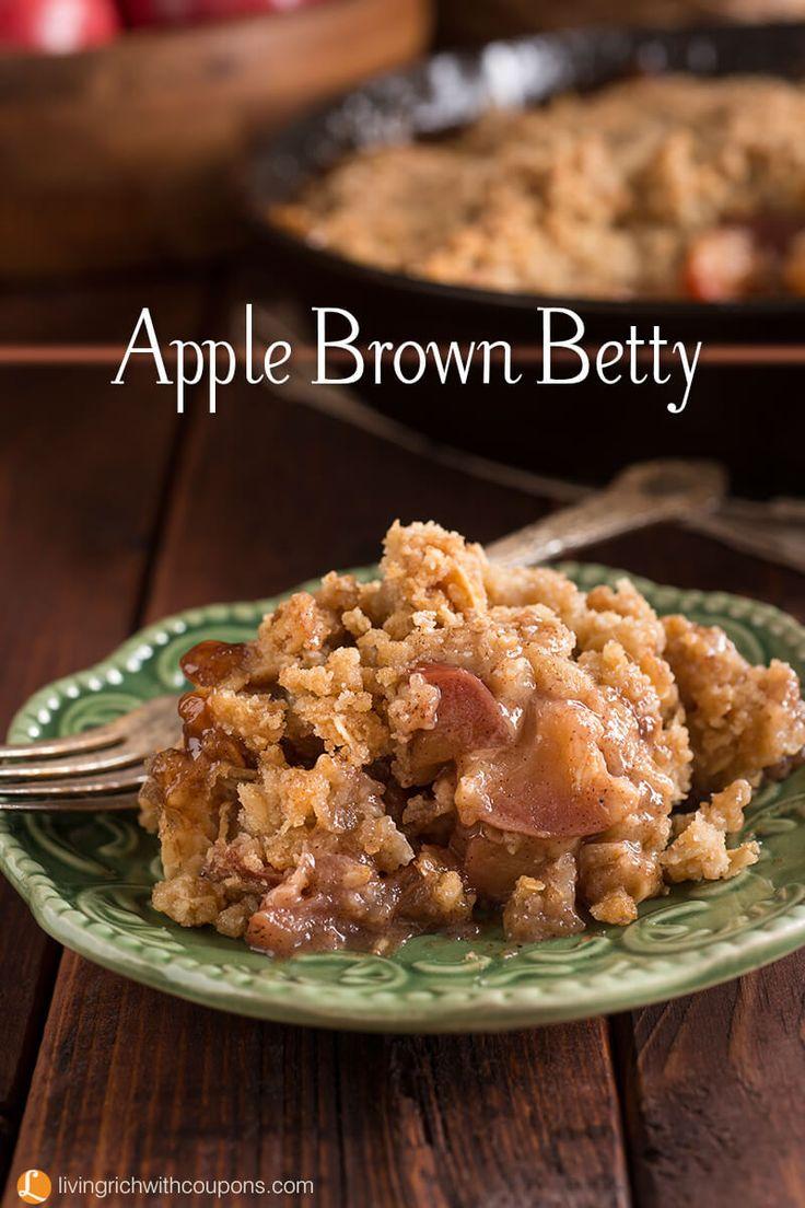 Apple Brown Betty Recipe - A delicious fall dessert. Serve warm with ice cream!