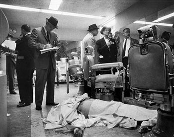Albert Anastasia was rudely dispatched from his throne when two gunmen walked into the Park Sheraton Hotel, pumped four bullets into him as he sat in a barber chair and left him for dead.