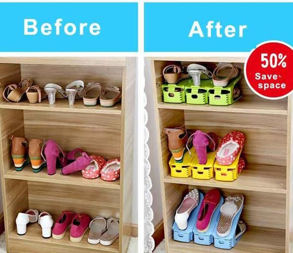 Shoe Stacker Is A Shoe Organization Tool That Vertically Stacks