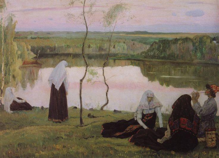 Нестеров М.. За Волгой. Пастушок. 1922