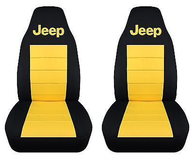 1987-2006 Jeep Wrangler Front Set of Seat Covers, Choose Your Color COMBO