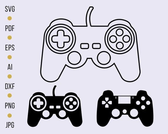 Playstation Game Controller Svg Video Game Controller Svg Etsy In 2021 Silhouette Diy Projects Svg Silhouette Diy