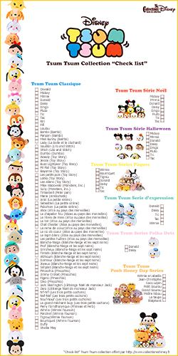jewelry catalogues Check list Tsum Tsum Collection