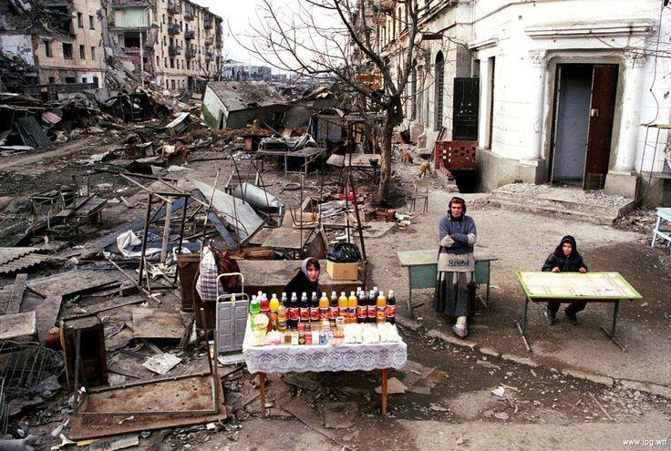 Уличная торговля, 1990–е годы, Чечня — Фотографии из прошлого