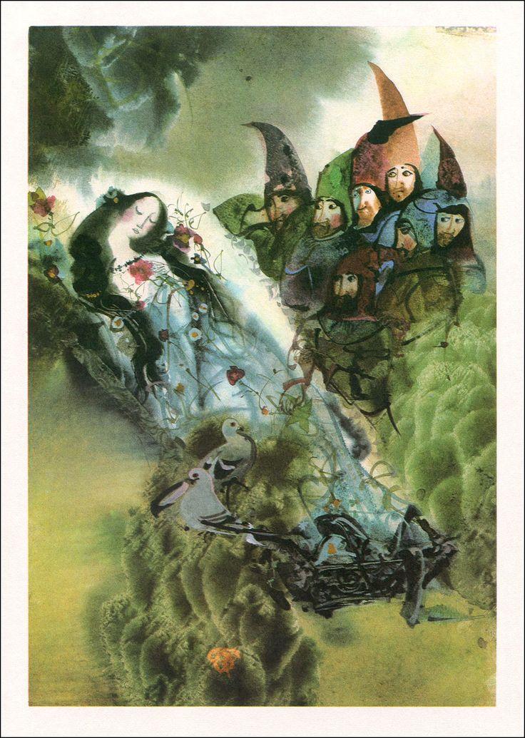 Europäische Marchen. Erausgeber von Dagmar Sekorová. Illustriert von Mirko Hanák, 1983.
