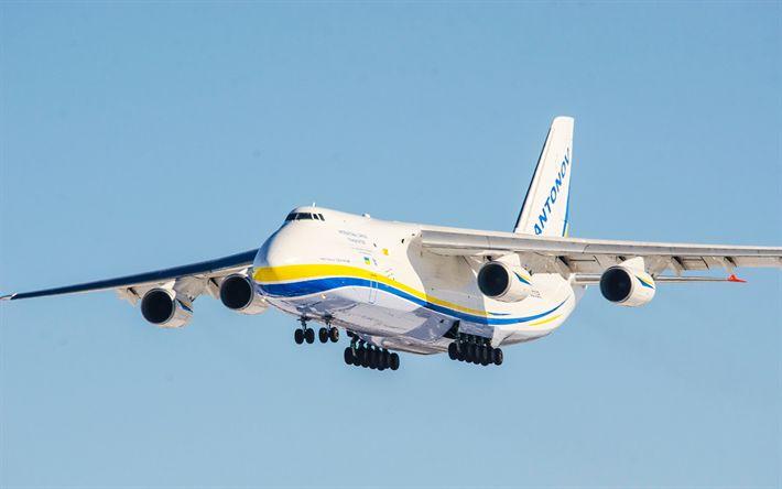 Descargar fondos de pantalla Antonov An-124 Ruslan, 4k, avión de carga, carga de aire, ucraniano aviones Antonov