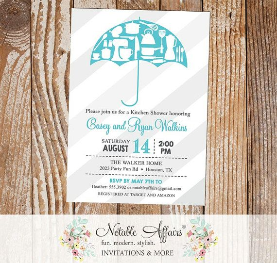 Kitchen Pantry Shower Umbrella Housewarming Party Stock The House Bridal  Shower Couples Shower Invitation   Accent Part 98