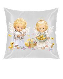 Angel Babies Melek Bebekler Kendin Tasarla - Kare Yastık 40x40cm
