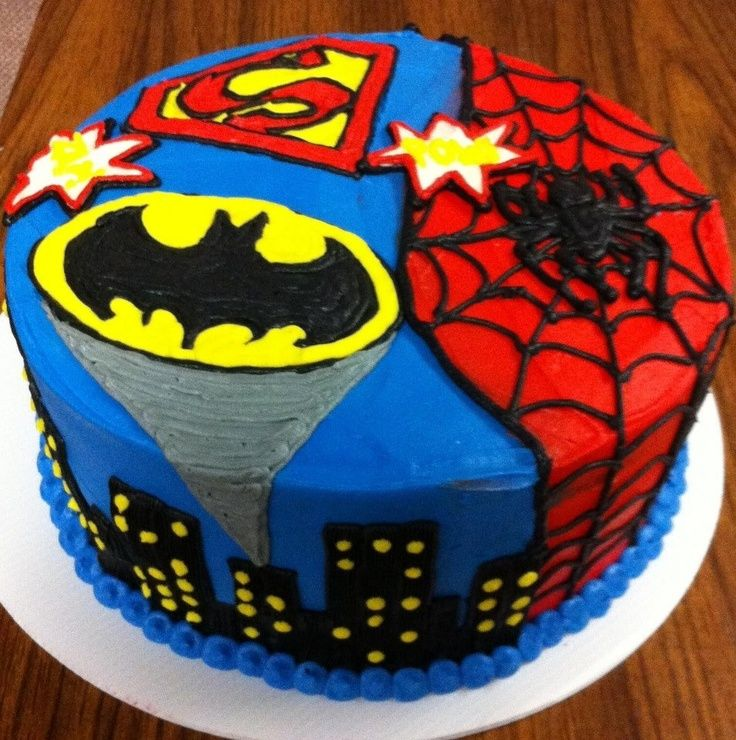 superhero birthday cakes | superheroes-birthday-cakes-awesome