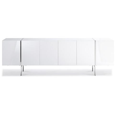 Struttura High Gloss White Buffet Cabinet with Adjustable Shelves - #23J78 | Lamps Plus