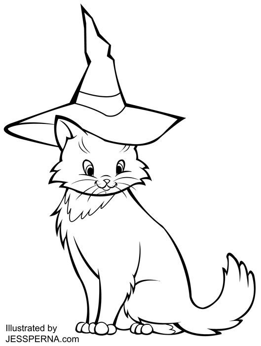 halloween black coloring pages - photo#36