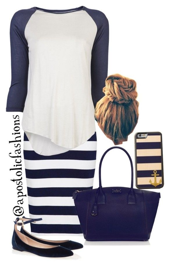 """Apostolic Fashions #833"" by apostolicfashions on Polyvore featuring French Connection, Neuw, Kate Spade and Chloé"
