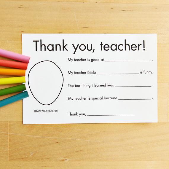 Simple Thank You Card For Her  Teacher Female  Friend Girly Floral Appreciation Card Printable DIY  5 x 7 PDF