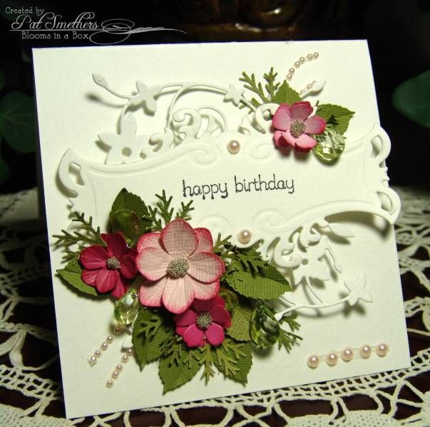 ~Bloomin' Birthday~ by Blooms in a Box - Cards and Paper Crafts at Splitcoaststampers - Memory box die