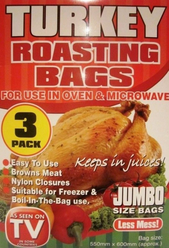 Turkey Roasting Bags 3 PC Cooking Chicken Fish Meat Microwave Oven
