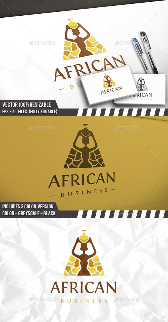 African Furniture Logo - Humans Logo Templates