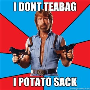 Teabagging? Not Chuck Norris