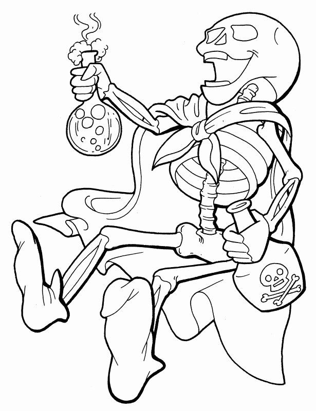 Skeleton And Black Cat Coloring Pages For Kids Halloween Printables Fr Halloween Coloring Pages Halloween Coloring Pages Printable Halloween Coloring Pictures