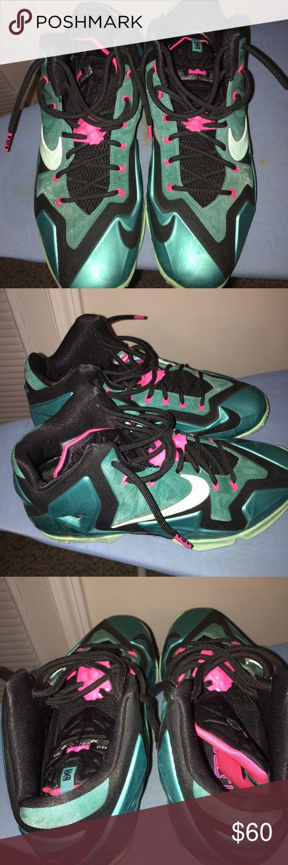 Turquoise and Pink LeBrons Mens 9.5 Nike Shoes Athletic Shoes