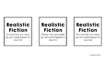 Editable Classroom Library Bin Labels (Upper Elementary/Mi