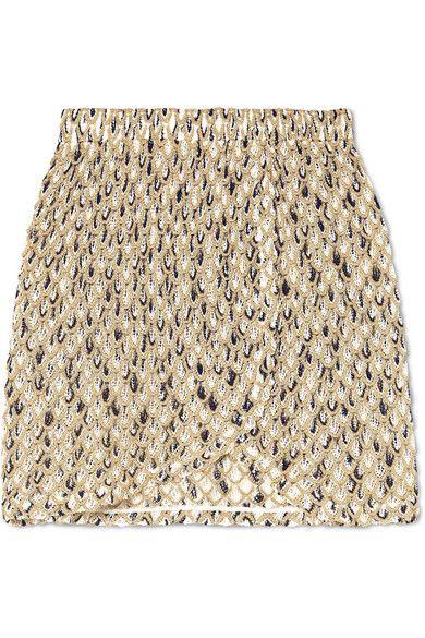 703f0058947476 Missoni - Metallic crochet-knit mini skirt in 2019 | vestidos | Missoni,  Mini skirts, Skirts