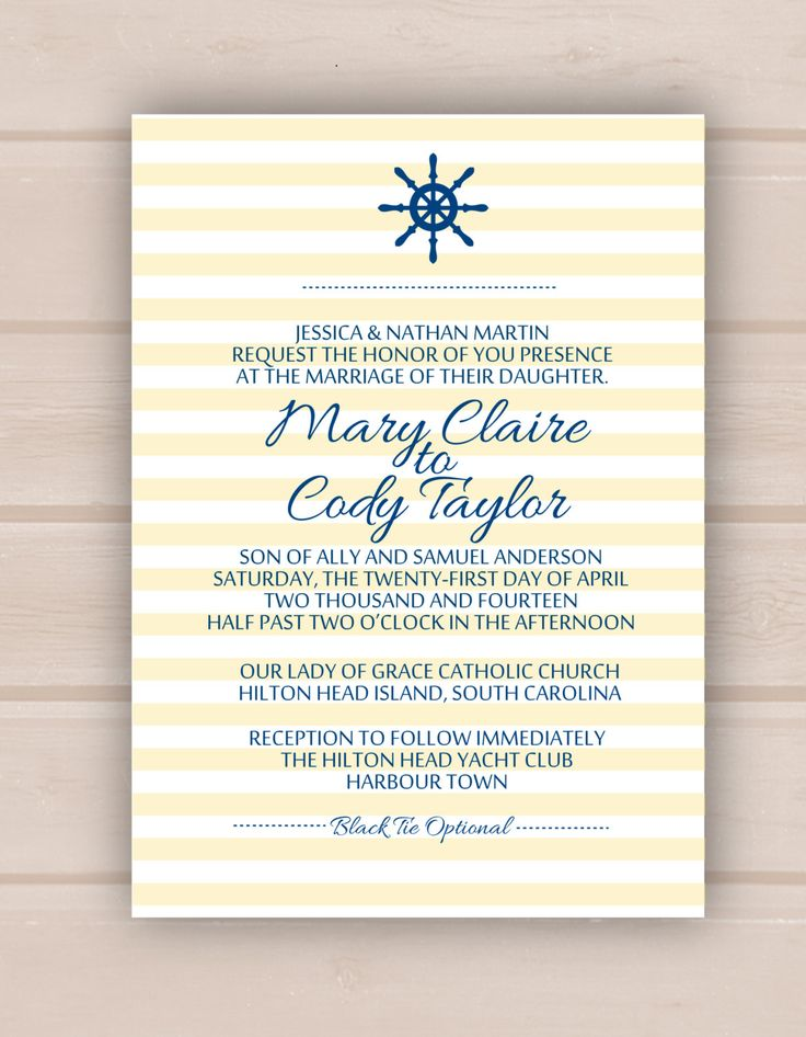 Hilton head island disney wedding invitations