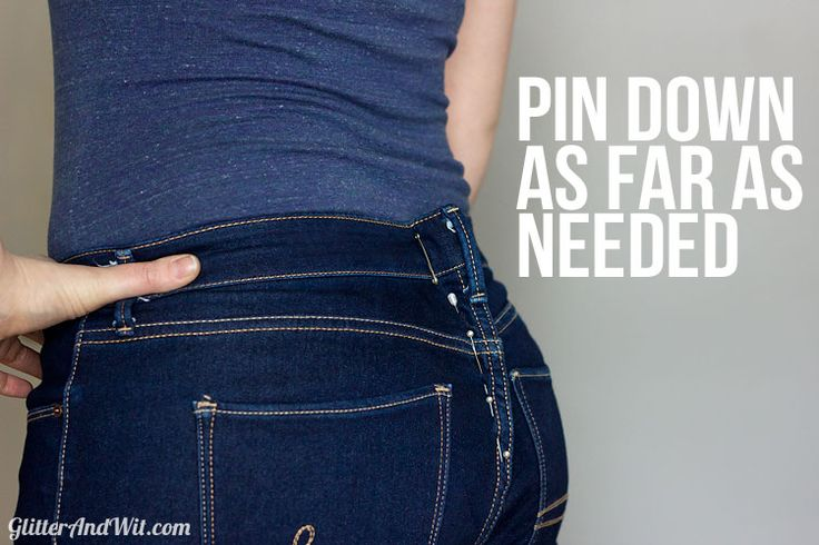How to Take in a Jeans Waist Tutorials, How to take and