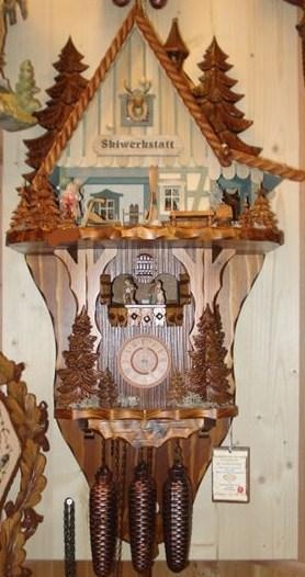BLACK FOREST SKI LODGE CUCKOO CLOCK NEW TODAY FREE SHIPPING | eBay