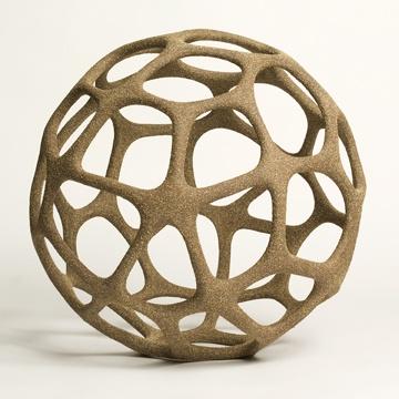cellular sphere by pamela sunday #pamelasunday #ceramic #sculpture