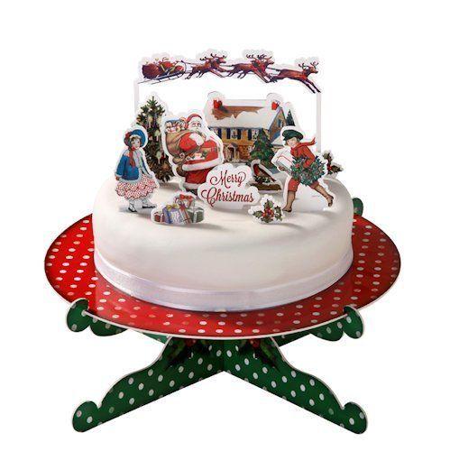Jolly Holly Traditional Christmas Xmas Scene Party Cake Topper Decoration Set | eBay