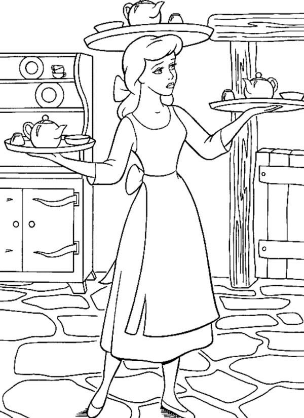 Cinderella Coloring Page 2 Is A From BookLet Your Children Express Their Imagination When They Color The