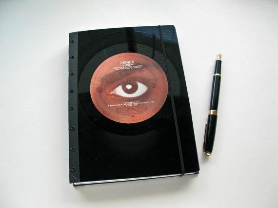 Prince 1999 Recycled Vinyl LP Album Sketchbook by sahabo on Etsy, $35.00