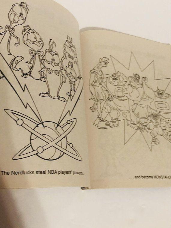Vintage 90s Lot Of 2 Jumbo Space Jam Coloring Books Etsy Coloring Books Space Jam Space