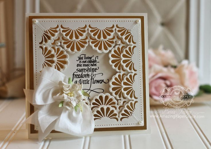 Lace Card Making Ideas Part - 35: Card Making Ideas By Becca Feeken Using Quietfire Design - Just Living Is  Not Enough And