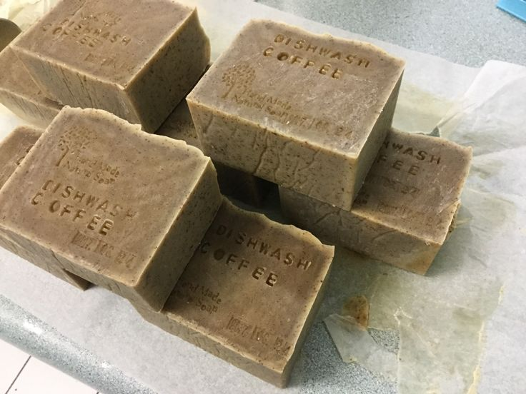 I made coffee cp soaps for dishwash