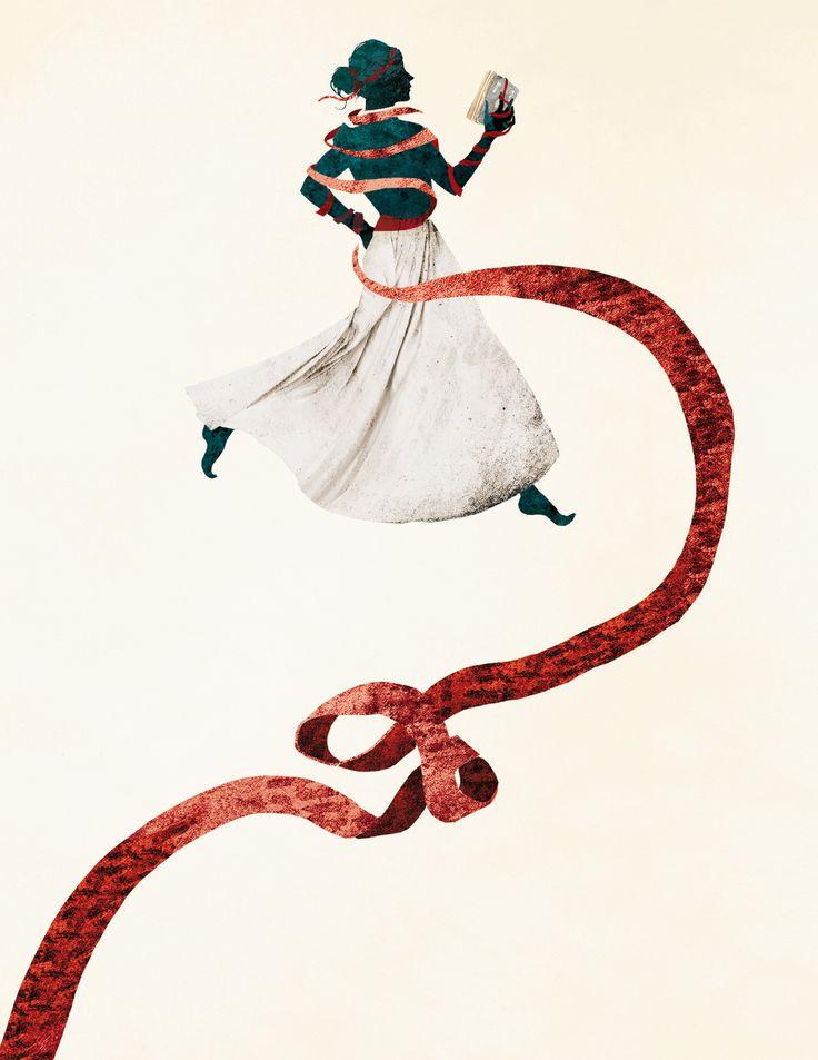 The Crimson Ribbon illustration