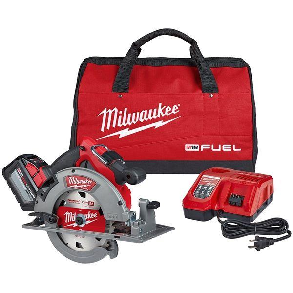 Milwaukee 2732 21hd M18 Fuel 7 1 4 In Circular Saw Kit Woodworking Tools Milwaukee Tools Woodworking For Kids