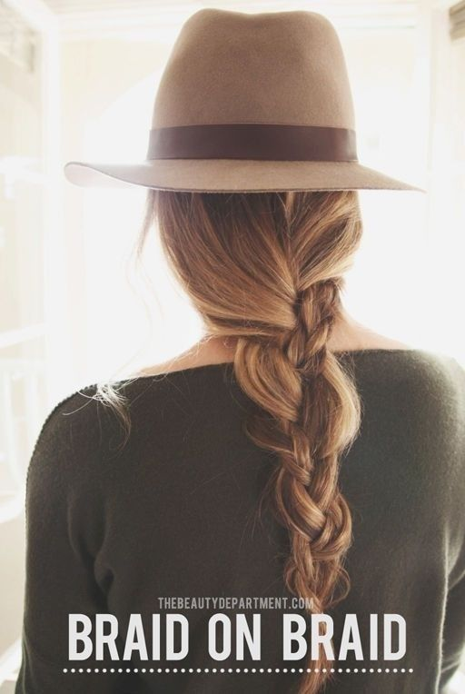 Messy Braids with Hats - Holiday Hairstyle Designs