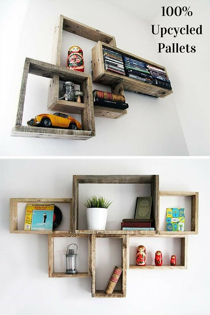 #DIY Decorative #Pallet Shelves for Storage - 99 Pallets