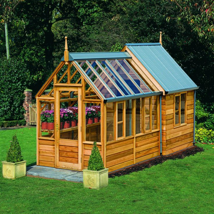 Good Fine Garden Sheds With Greenhouse Storage Shed Combi From