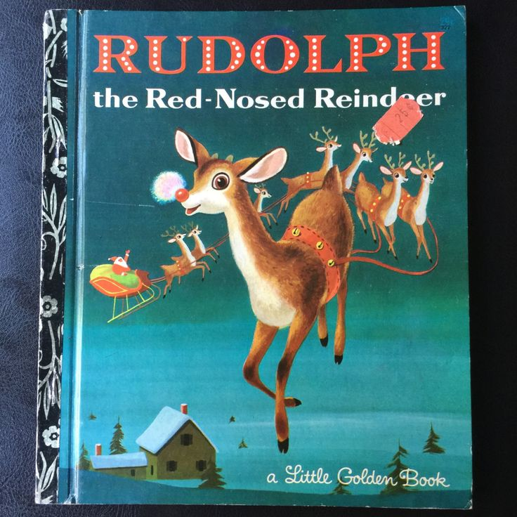 "1973 Collectible First Edition Australia Christmas book Golden Book  ""RULDOLPH The Red-Nosed Reindeer"" by weseatree on Etsy"