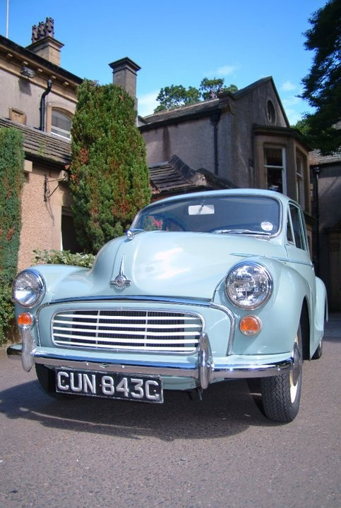 Maureen, our Morris Minor